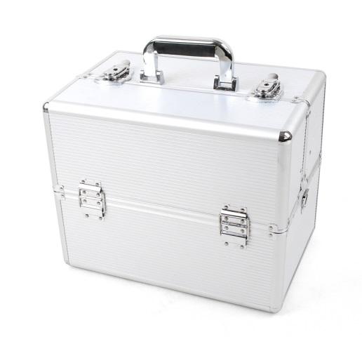 6ea43c616a2d4 Kosmetický kufřík 36x25x24 cm, stříbrná