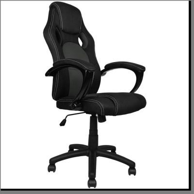 SPORT kancelářská židle křeslo KA-D01 černo-šedá