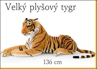 Plyšový tygr 136 cm