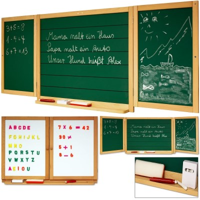INFANTASTIC Dětská dřevěná magnetická tabule KDF326 55 x 143cm