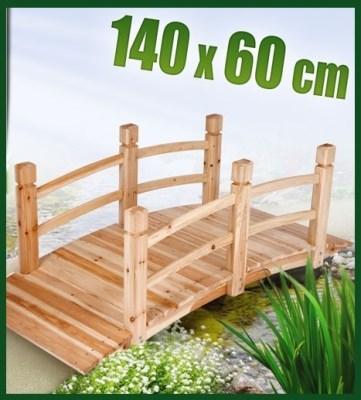 Dřevěný zahradní můstek 140x60cm