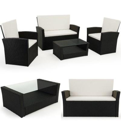 Zahradní ratanový nábytek SAMANTA DEU02 černá