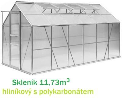 Skleník GWH11 hliníkový 11,6m2 s polykarbonátem