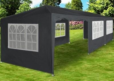 Zahradní párty stan DEU DE45 XXL - šedý, 3 x 9 m