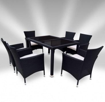Zahradní ratanový nábytek TAMARA > varianta černá