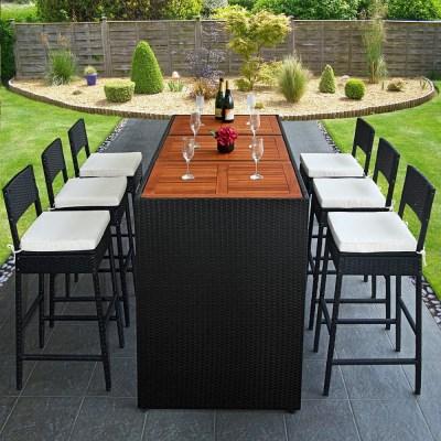 Zahradní ratanový nábytek Bar set Panda DEU + akát