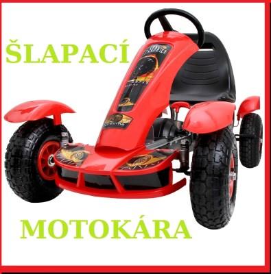 Motokára GO-KART DE51 červená