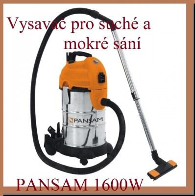 Vysavač pro mokré a suché sání PANSAM 1600W 30L s oklepem