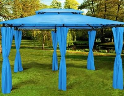 Zahradní Altán Pavilon Deuba TOPAS 4x3m - světle modrá