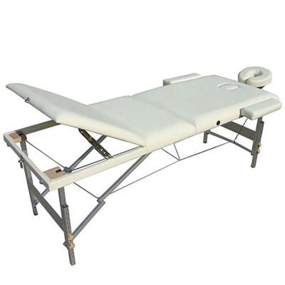 Masážní stůl DS hliníkový 3-zóny krémová