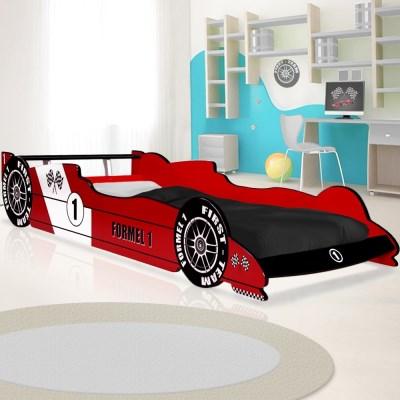 Signal ROBERT11 dětská postel FORMULE červená+bílá