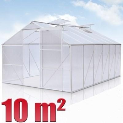 Skleník GWH10 hliníkový 10m2 s polykarbonátem