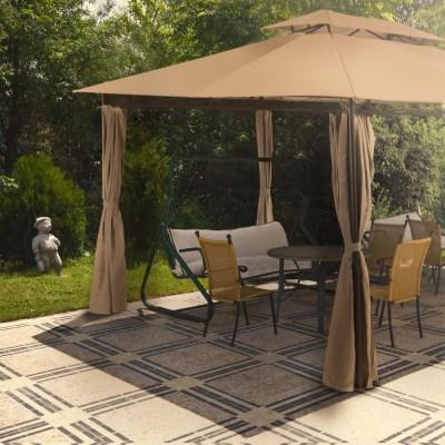 Zahradní altán pavilon Deuba TOPAS 4x3m - hnědý