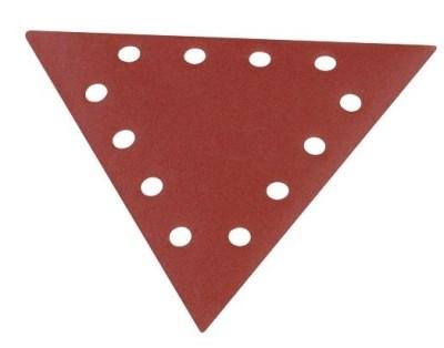 Klingspor Brusný trojúhelník děrovaný DELTA na suchý zip 10ks zrno 80