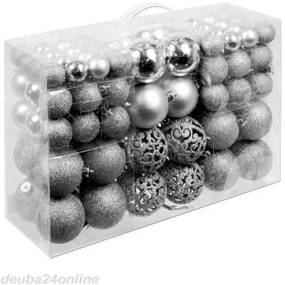 Sada stříbrných vánočních baněk 100ks