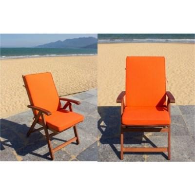 Sedák na zahradní židli VANAMO modrý