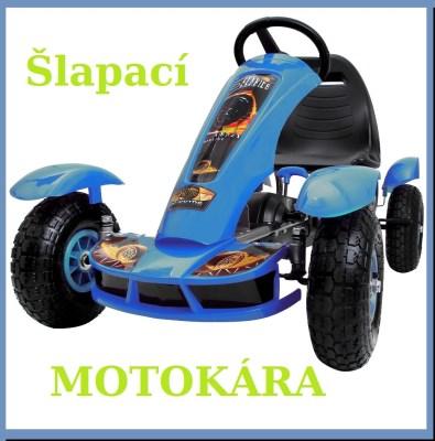 Motokára GO-KART DE51 modrá