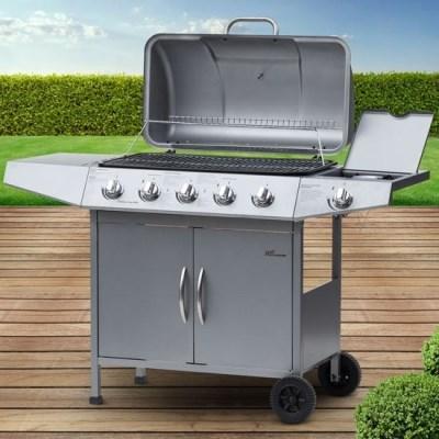 Plynový zahradní GRIL Broil-Master BBQ10D 5 + 1 stříbrná