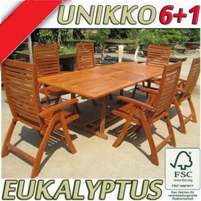 Zahradní nábytek UNIKKO 6+1
