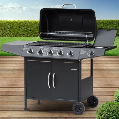 Plynový zahradní GRIL Broil-Master BBQ10D 5 + 1 černá