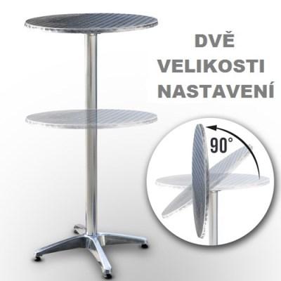 BAROVÝ STOLEK nerez BST04 60cm pro sezení i stání