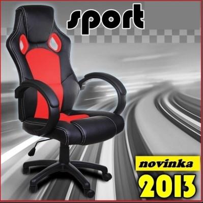 SPORT kancelářská židle křeslo KA-D02 červená