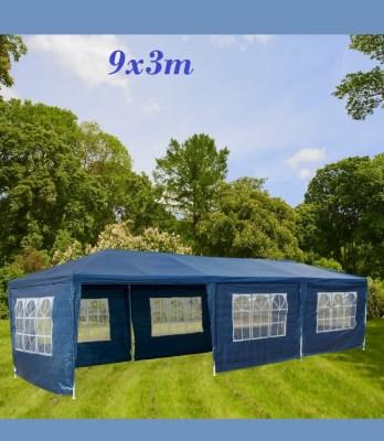 Zahradní párty stan Deuba DE45 XXL - modrý, 3 x 9 m
