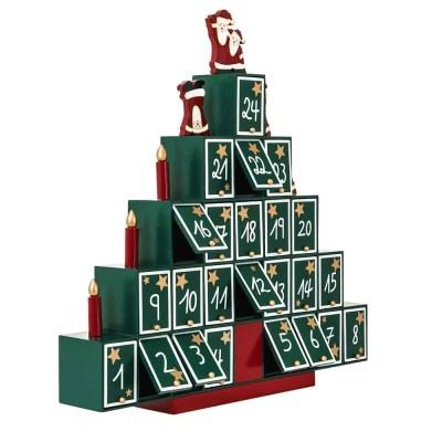 Dřevěný adventní kalendář Stromeček
