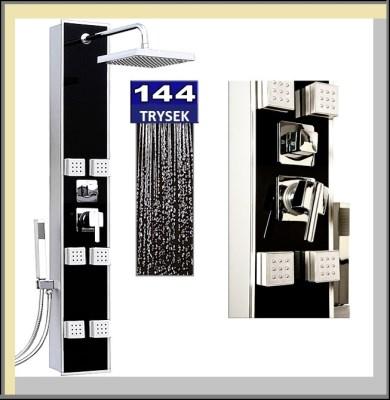 AQUAMARIN sprchový panel PL-144 černá