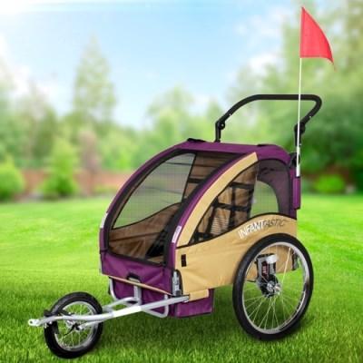 Vozík za kolo pro děti Jogger INFANTASTIC 2v1 odpružený