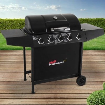 Plynový zahradní GRIL Broil-Master Barbecue BBQGL04 černá
