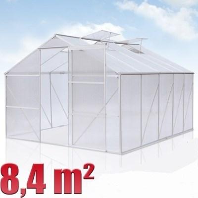 Skleník GWH09 hliníkový 8,4m2 s polykarbonátem