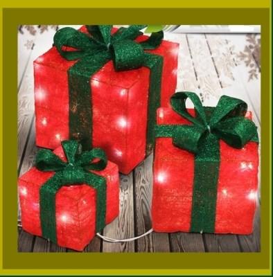Svítící balíčky dekorace 3set