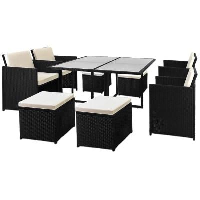 Zahradní ratanový nábytek SOFIE XXL černá