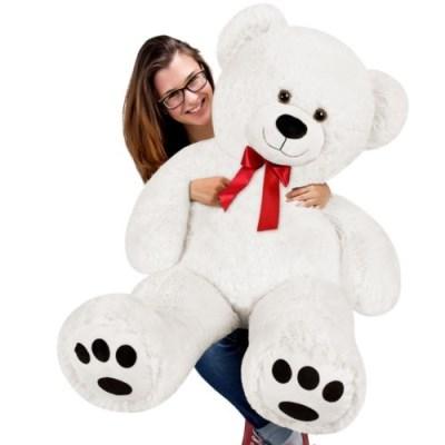 Velký bílý plyšový medvěd 100 cm - XXL plyšák