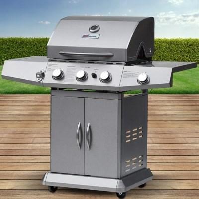Plynový zahradní gril Broil-Master BBQ13D 3 + 1 stříbrný