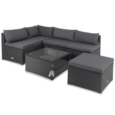 Zahradní ratanový nábytek FELIX černá