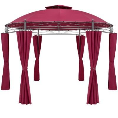 Zahradní altán Pavilon Deuba TOSCANA průměr 350cm červená