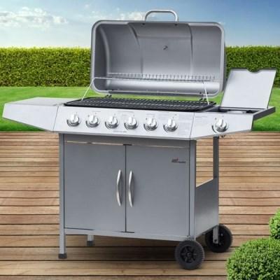 Plynový zahradní GRIL Broil-Master BBQ11D 6 + 1 srříbrná