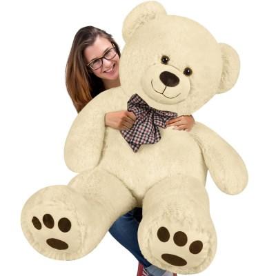 Velký plyšový medvěd 100 cm - XXL plyšák krémová