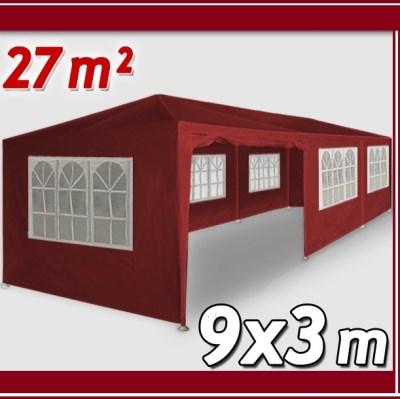 Altánok Pavilón DE45 XXL 9x3m čierveny
