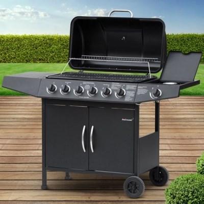 Plynový zahradní GRIL Broil-Master BBQ11D 6 + 1 černá