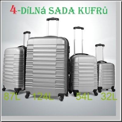 COMFORT AZURE TRS05-SET cestovní kufry stříbrné