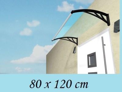 MELFIN acryl 3mm vchodová stříška 80cm x120cm čirá - černá