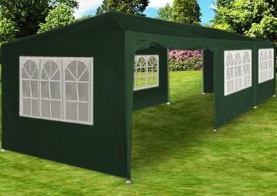 Zahradní párty stan DEUBA DE45 XXL - zelený, 3 x 9 m
