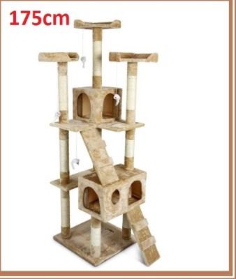 MELFIN Škrábadlo a odpočívadlo pro kočky 175cm béžová