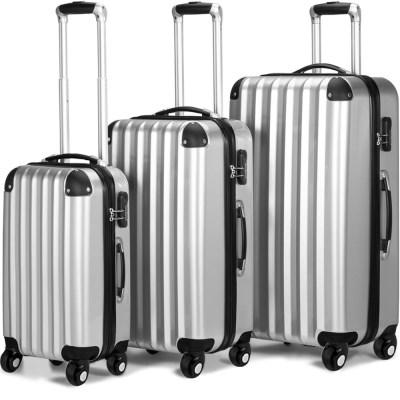 COMFORT AZURE DEU03-SET cestovní kufry stříbrné