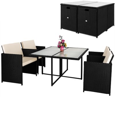 Zahradní ratanový nábytek SOFIE černá