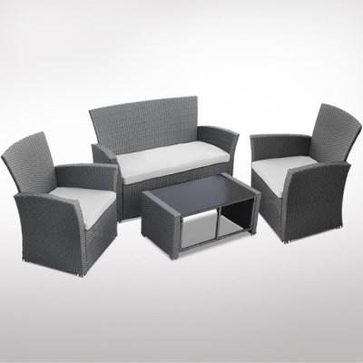 Zahradní ratanový nábytek SAMANTA šedá