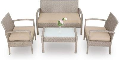 Zahradní ratanový nábytek KAROLINA 3+1 šedá